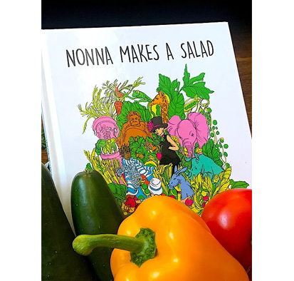 Nonna makes a salad book cover